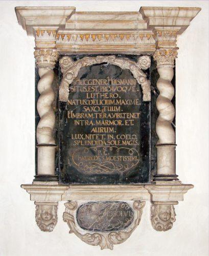 Gedenktafel Johan M. Luthers - Foto: A. Baumgärtel